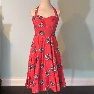 Anthropologie Girls from Savoy halter dress